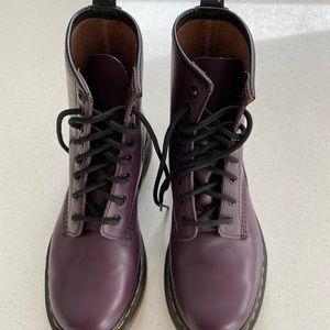 Purple Dr Martens .